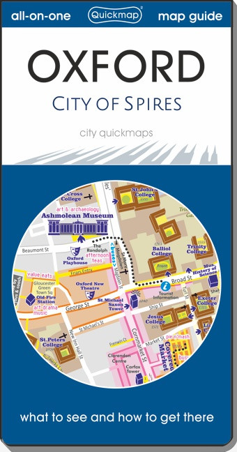 Oxford - City of Spires: Map & Guide [quickmap] isbn 9780993161377