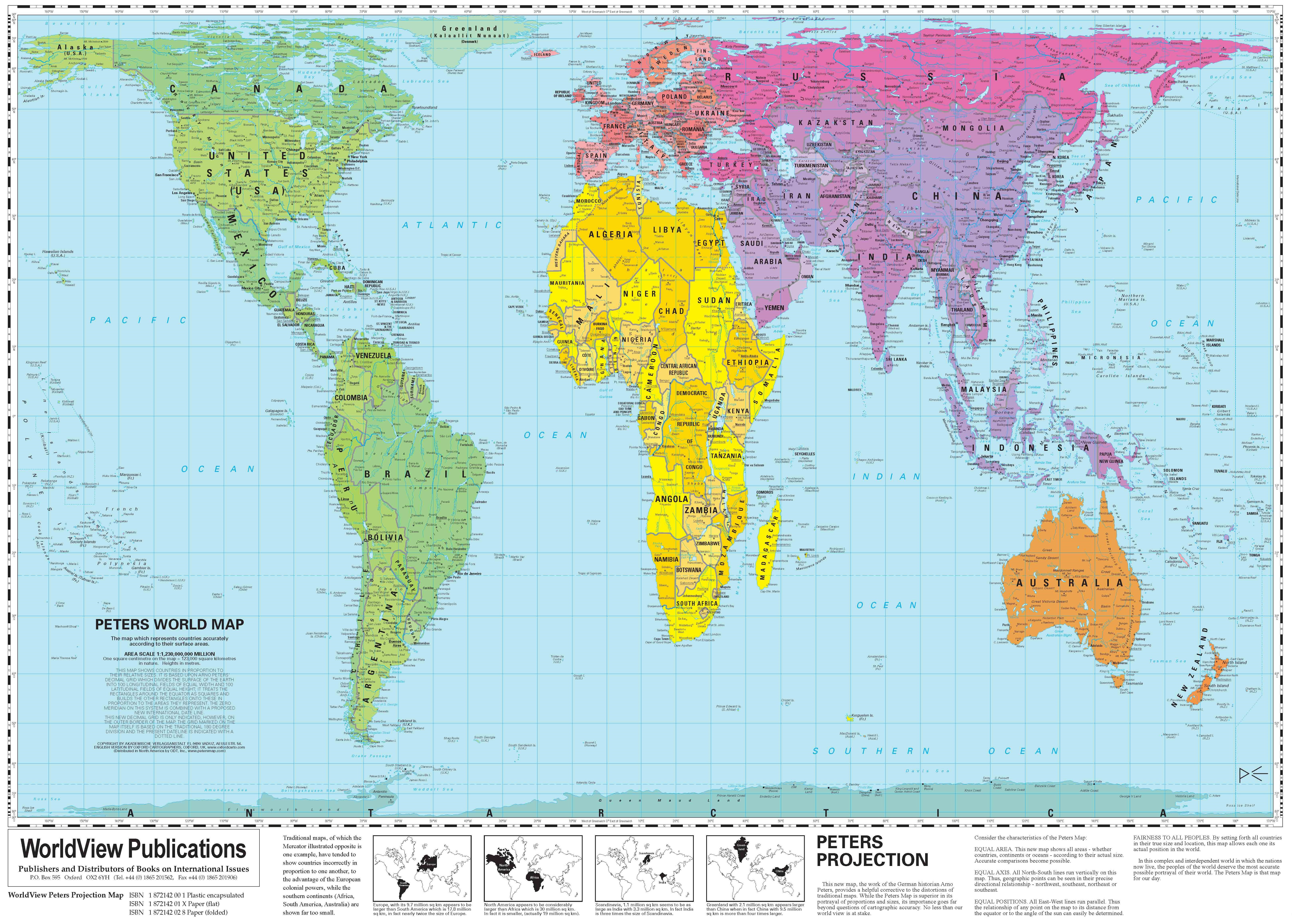 WorldView Peters Projection Map: 2nd Ed.[WV]