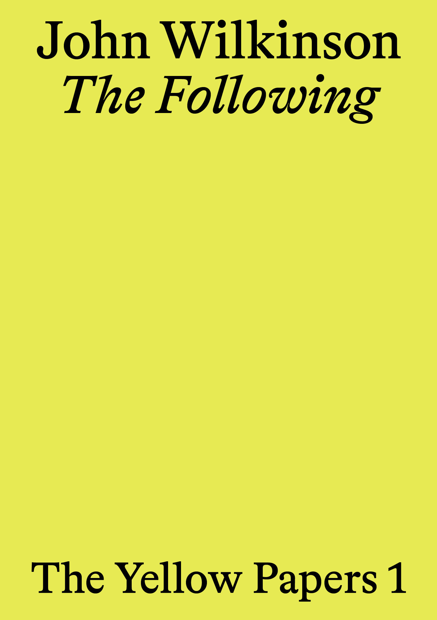 Following, The