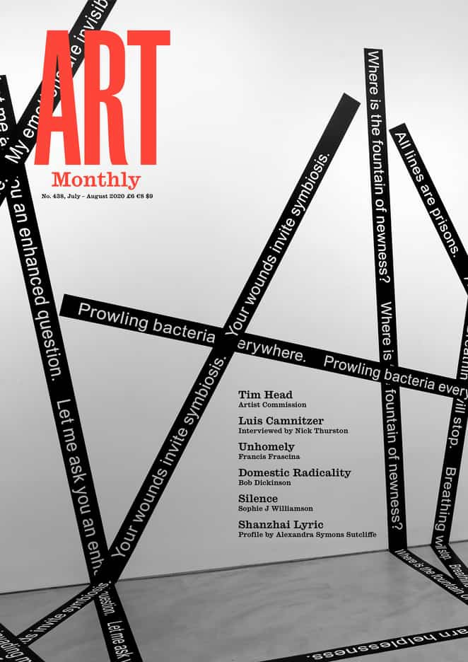 Art Monthly 438 July August 2020
