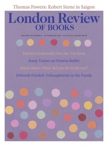 London Review of Books 43/04 18 February 2021
