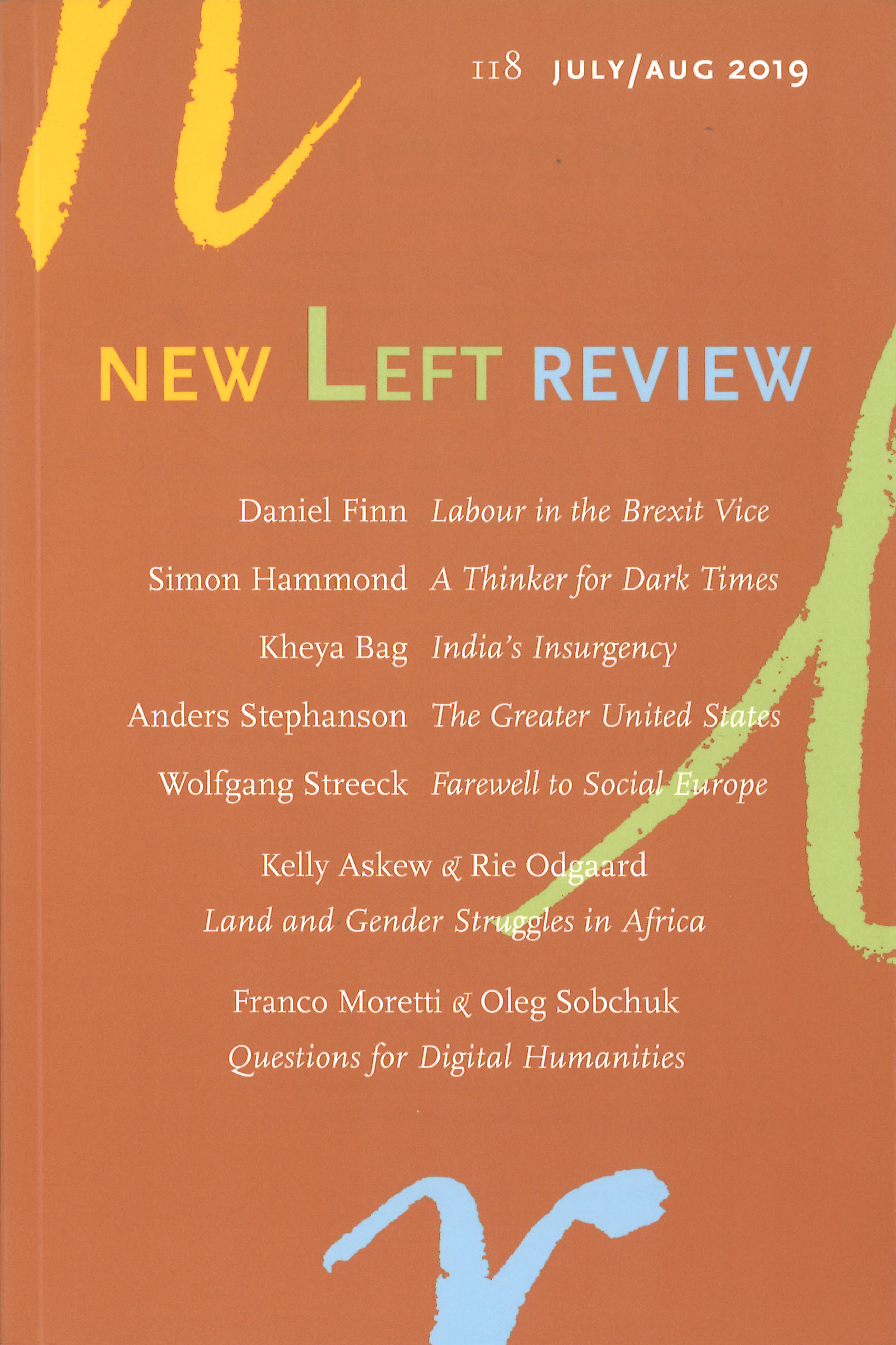 New Left Review 118 July/August 2019
