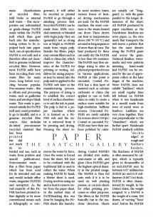 Paper [The Saatchi Gallery]