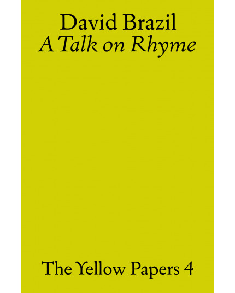 Talk on Rhyme, A