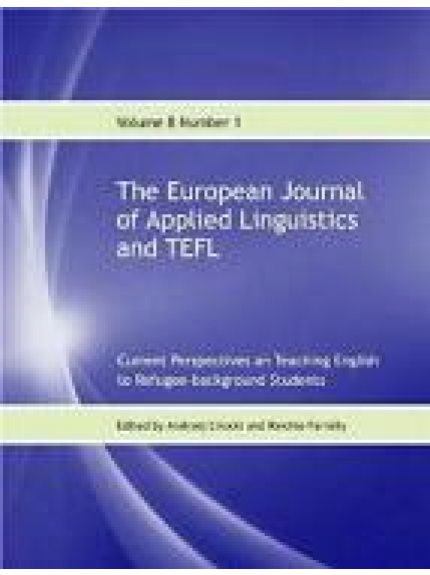 European Journal of Applied Linguistics and TEFL 8/1